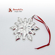 SOLD Christmas Snowflake Ornament Gorham Sterling Silver 2002