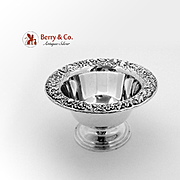 SOLD Repousse Footed Bowl Sterling Silver S Kirk Son 1930