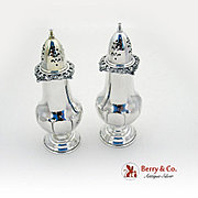 Grand Baroque Salt Pepper Shaker Set Sterling Silver 2 Pieces Wallace 1941