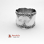 Ornate Scroll Napkin Ring Sterling Silver Gorham 1900