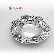 Chrysanthemum Small Serving Bowl Sterling Silver Gorham 1906