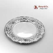 Repousse Bread Plate Sterling Silver S Kirk Son Inc 1910