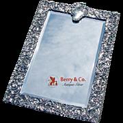 Amazing Ornate Openwork Scroll Rectangular Standing Mirror Sterling Silver Goldsmiths ...