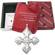 Christmas Cross Ornament Sterling Silver Reed and Barton 1995