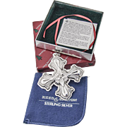 Christmas Cross Ornament Sterling Silver Reed and Barton 2000