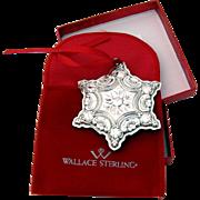 Snowflake Sterling Ornament 2001 Wallace Grande Baroque