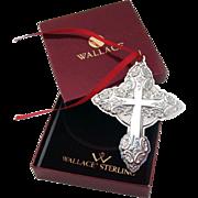 Cross Sterling Ornament 2004 Wallace Grande Baroque