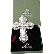 Cross Sterling Ornament 2010 Wallace Grande Baroque