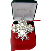 Christmas Cross Ornament Sterling Silver Reed and Barton 2006