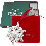 Christmas Ornament Snowflake Sterling Silver Towle 1998