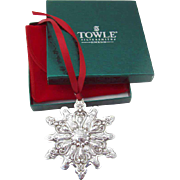 Christmas Ornament Snowflake Sterling Silver Towle 2000
