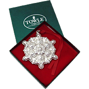 Christmas Ornament Snowflake Sterling Silver Towle 1997