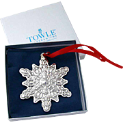 Christmas Ornament Snowflake Sterling Silver Towle 2004