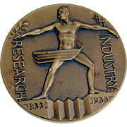 Century Of Progress Chicago Worlds Fair Commemorative Medal Bronze 1933
