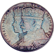 George V Queen Mary Jubilee Commemorative Coin Silver Royal 1935