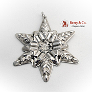 SALE Gorham Snowflake Christmas Ornament Sterling Silver 1970