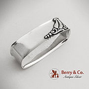 SALE Art Deco Blossom Oval Napkin Ring Sterling Silver Webster 1940