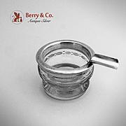 Miniature Ash Tray Sterling Silver Cut Glass Hawkes 1940