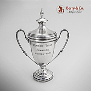 Covered Small Trophy Cup Sterling Silver James Dixon Sons 1957