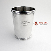 Banded Julep Cup Sterling Silver International 1980