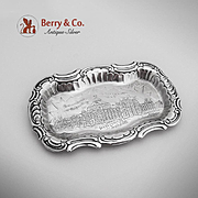 SOLD Columbian Exposition Government Building Souvenir Pin Tray Sterling Silver Towle 1893