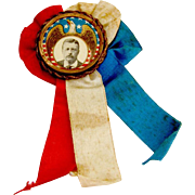 SALE PENDING Theodore Roosevelt Presidential Campaign Button Pin Ribbon 1904