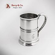 Tankard Fork Glass Bottom 2 ozs Jigger Blackinton Sterling Silver 1930