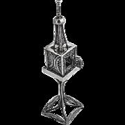 Vintage Spice Tower Filigree Sterling Silver