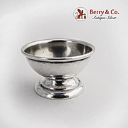 Tiny Open Salt Dish Sterling Silver 1940s
