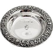 Repousse Coaster Sterling Silver S Kirk and Son