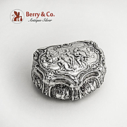 Ornate Box Sterling Silver British Import Marks 1897