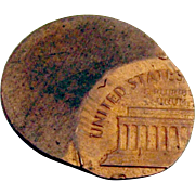 Off Center Lincoln Memorial Cent c.1970 over 60% Off Center