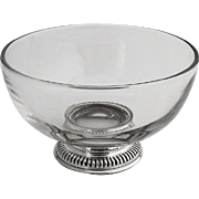 Gadroon Footed Sterling Silver Glass Mayonnaise Bowl Frank M Whiting 1940