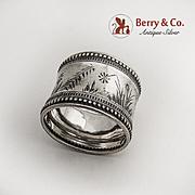 Aesthetic Beaded Napkin Ring Sterling Silver Gorham 1881