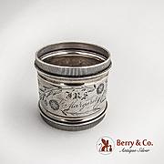 Aesthetic Napkin ring Coin Silver 1880