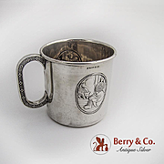 Japanese Style Baby Cup Norwegian 830 Silver 1930