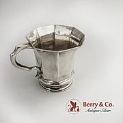 Octagonal Coin Silver Cup 1860