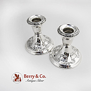 Chantilly Candlesticks Pair Gorham Sterling Silver