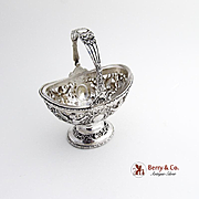 Small Basket Winged Cherub 800 Silver Hanau 1890-1910