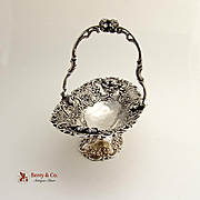 Ornate Swing Handle Basket 800 Silver 1890-1910