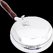 Silent Butler Serving Dish Sterling Silver Camusso