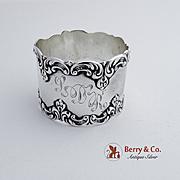 Ornate Napkin Ring Sterling Silver Gorham Silversmiths 1890