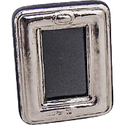 Tiny Picture Frame Sterling Silver Italy