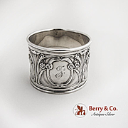 SALE PENDING Art Nouveau Napkin Ring Sterling Silver Gorham Silversmiths 1900