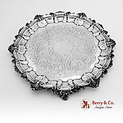 Ornate Salver Tray Silverplate Baroque Style 1890