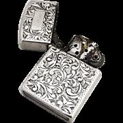 Vintage Lighter 950 Sterling Silver Case 1940