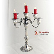 Chantilly Five Candle Candelabrum Sterling Silver Gorham