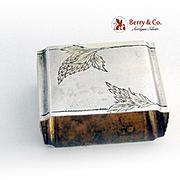 Russian Rectangular Napkin Ring 84 Standard Silver 1910 Monogram WB