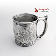 Antique Aesthetic Baby Cup Sterling Silver Gorham Silversmiths 1880