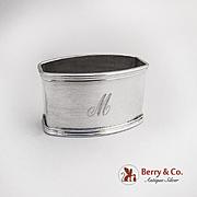 Napkin Ring 800 Silver Italy Monogram M